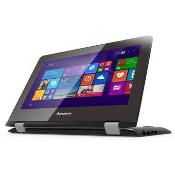 Laptop Renew Lenovo Yoga 300 Intel Celeron Dual Core N2840 2.16 GHz 2GB DDR3 32 GB SSD 11.6 inch HD MultiTouch Bluetooth Webcam Windows 8.1
