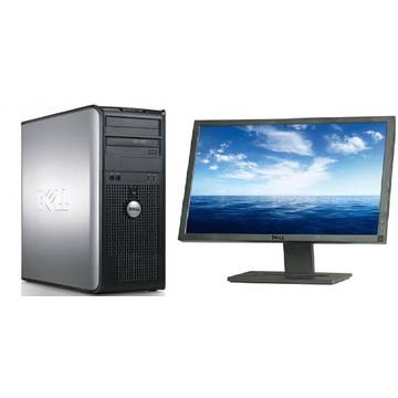Sistem PC second hand + Monitor LCD Dell OptiPlex 380 E8400 Core 2 Duo 3.0GHz 4GB DDR3 250 HDD Sata RW Tower + Dell Professional E2210 22 inch