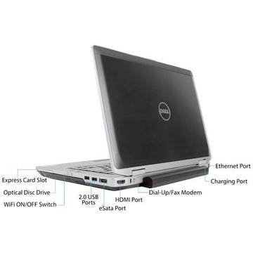 Laptop refurbished Dell Latitude E6430 i5-3320M 2.6GHz 8GB DDR3 128GB SSD DVDRW 14.0inch Webcam Soft Preinstalat Windows 10 Home