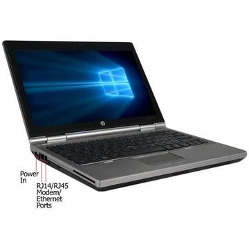 Laptop second hand HP EliteBook 2570p i3-3120M 2.5GHz 4GB DDR3 128GB SSD 12.5inch Webcam