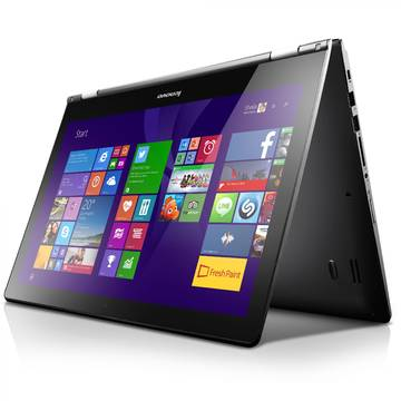 Laptop Renew Lenovo Yoga 500-15ISK Intel Core i5-6200U 2.3GHz 8GB DDR3 1TB HDD 15.6 inch HD Multitouch Bluetooth Webcam Windows 10