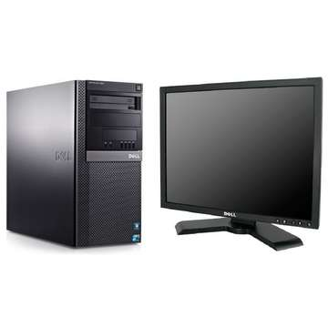 Sistem PC second hand + Monitor LCD Dell Optiplex 960 Core 2 Duo 8400 3.0Ghz 4GB DDR2 250GB Sata DVD Tower+Dell P190S