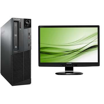 Lenovo ThinkCentre M92p Core i5-3470 3.2GHz 4GB DDR3 320GB HDD SATA DVD-RW Desktop+Philips Brilliance 220S 22 inch 5 ms