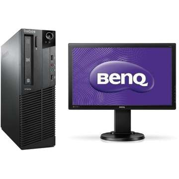 Sistem PC second hand + Monitor LCD Lenovo ThinkCentre M92p Core i5-3470 3.2GHz 4GB DDR3 500GB HDD SATA DVD-RW Desktop+BenQ G2251-T 22 Inch