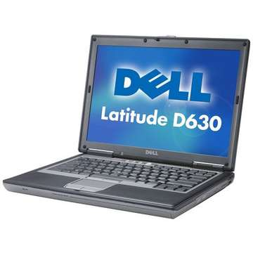 Laptop second hand Dell Latitude D630Intel Core 2 Duo T7500 2.20GHz2GB HDD 120GBDVD-RW 14.1inch 1440x900 Port serial