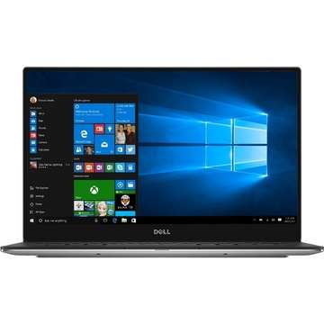 Laptop nou Dell XPS 13 9360 13.3'' FHD InfinityEdge Core i5-7200U 2.5GHz 8GB DDR3 256GB SSD Intel HD 620 Win 10 Pro, Argintiu