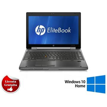 Laptop refurbished HP Elitebook 8560w i5-2540M 2.6Ghz 8GB DDR3 1TB HDD DVD-RW Nvidia Quadro 1000 2GB Dedicat 15.6 inch 1920x1080 FHD Webcam Soft Preinstalat Windows 10 Home
