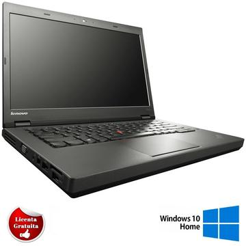 Laptop refurbished Lenovo ThinkPad T440p i5-4300M 2.60GHz up to 3.30GHz 8GB 500GB HDD DVD-RW Webcam FIngerprint 14inch HDTastatura iluminata Soft Preinstalat Windows 10 Home