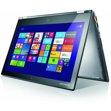 Laptop second hand Lenovo Yoga2 13 i5-4210U 1.70GHz up to 2.70GHz 8GB DDR3 500GB HDD 13.3inch 1920x1080 Multitouch GRAD B