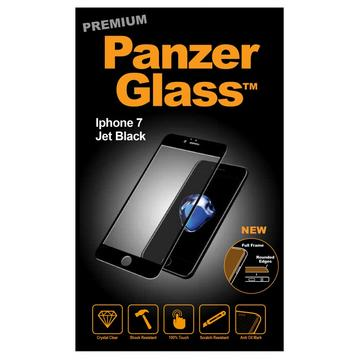 Folie protectie PanzerGlass sticla securizata PREMIUM iPhone 7 Jet Plus Black / Black