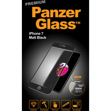 Folie protectie PanzerGlass sticla securizata PREMIUM iPhone 7 Black Matt