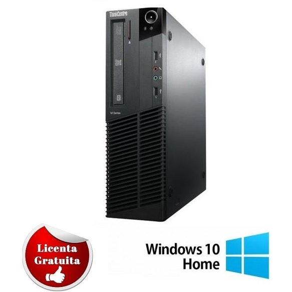Calculator refurbished ThinkCentre M91p Core i5-2400 3.1GHz 4Gb DDR3 250Gb HDD SATA DVD-RW Desktop Soft Preinstalat Windows 10 Home