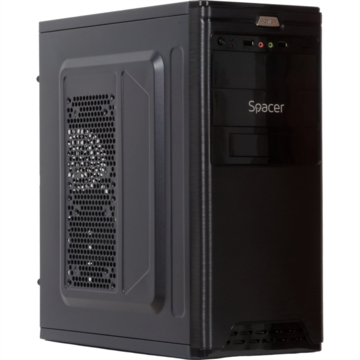 Carcasa Spacer Pirate 500W, ATX Mid-Tower, black
