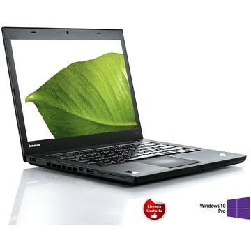 Laptop refurbished Lenovo ThinkPad T440 I5-4300U 1.9GHz 8GB DDR3 SSD 256GB 14inch Soft Preinstalat Windows 10 Professional