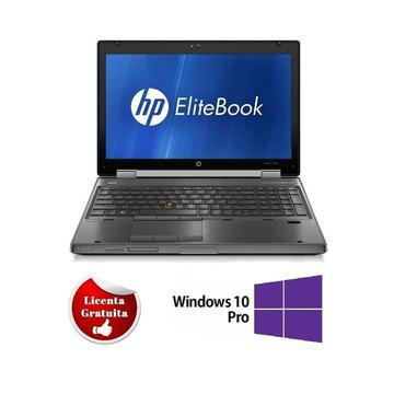 Laptop refurbished HP Elitebook 8560w i5-2540M 2.6Ghz 8GB DDR3 1TB HDD DVD-RW Nvidia Quadro 1000 2GB Dedicat 15.6 inch 1920x1080 FHD Webcam Soft Preinstalat Windows 10 Professional
