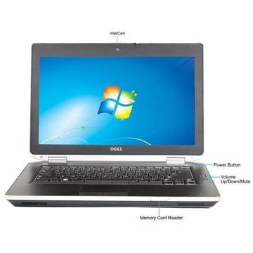 Laptop second hand Dell Latitude E6430 I5-3320M 2.6GHz 8GB DDR3 256GB SSD DVD-RW 14 inch HD+ 1600 x 900 Webcam Tastatura Iluminata