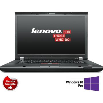 Laptop refurbished Lenovo ThinkPad T530 I5-3320M 2.6GHz up to 3.3 GHz 8GB DDR3 HDD 320GB Sata nVidia Quadro NVS 5400M 1GB DVD 15.6 inch Webcam Soft Preinstalat Windows 10 Professional