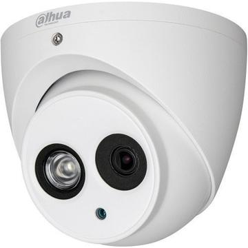 Produs NOU Camera supraveghere analog Camera Analogica Dahua HAC-HDW1100EM-A, HD-CVI, Dome, 1MP 720p, 2.8mm, EXIR 1 LED Array, IR 50m, Microfon, Rating IP67, Carcasa aluminiu