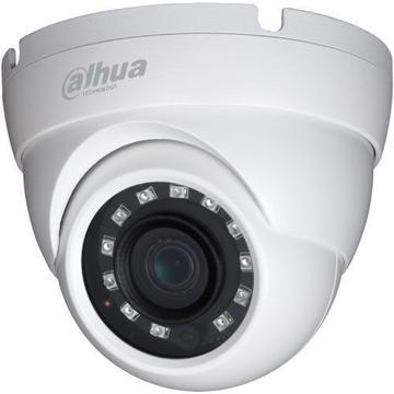 Produs NOU Camera supraveghere analog Camera Analogica Dahua HAC-HDW1200M S3, HD-CVI, Dome, 2MP 1080p, 3.6mm, 12 LED, IR 30m, Rating IP67, Carcasa aluminiu