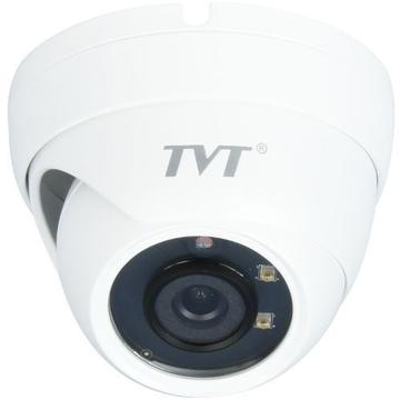 Camera supraveghere IP Camera IP TVT TD-9544E2(D/PE/AR1), Dome, H.265, 4MP, 1080P@30fps, CMOS OV 1/3 inch, 3.6mm, 2 LED Aray, IR 20m, carcasa metal, POE