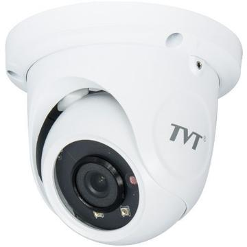 Camera supraveghere IP Camera IP TVT TD-9544S2(D/PE/AR1), Dome, H.265, 4MP, CMOS 1/3 inch, 2.8mm,  2 LED Array, IR 20m,  PoE, Carcasa metal