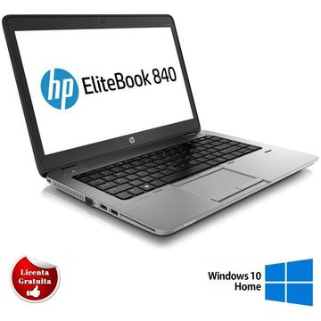 Laptop refurbished HP EliteBook 840 G1 Intel Core i7-4600U 2.10GHz up to 3.30GHz 8GB DDR3 256GB SSD Webcam 14 Inch 1600x900 Tastatura QWERTY US Soft Preinstalat Windows 10 Home