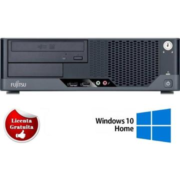 Calculator refurbished Fujitsu E5731 Dual Core E5500 2.80GHz 4GB 250 HDD DVD-ROM Desktop Soft Preinstalat Windows 10 Home