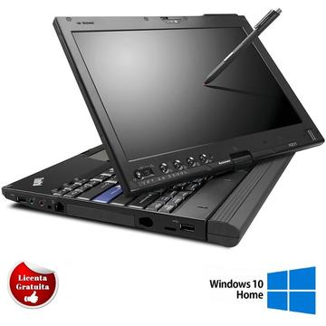 Laptop refurbished Lenovo ThinkPad X201 Tablet i5-520UM 1,06 up to 1,86GHz HDD 4GB 160GB HDD WebCam 12,1 inch Soft Preinstalat Windows 10 Home
