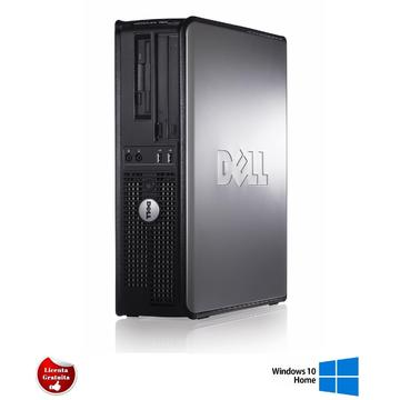Calculator refurbished Dell Optiplex 760 Core 2 Duo E8400 3.00GHz 4GB DDR2 160GB HDD DVD-ROM SFF Soft Preinstalat Windows 10 Home