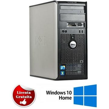 Calculator refurbished Dell Optiplex 780 Tower Intel Core2 Quad Q9400 2.66GHz 4GB DDR3 320GB HDD DVD-RW Soft Preinstalat Windows 10 Home