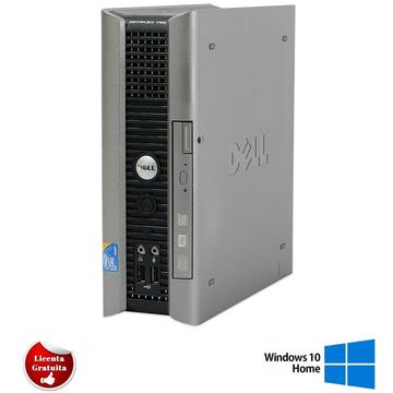 Calculator refurbished Dell Optiplex 760 Core 2 Duo E8400 3.00GHz 4GB DDR2 160GB HDD DVD-ROM USFF Soft Preinstalat Windows 10 Home