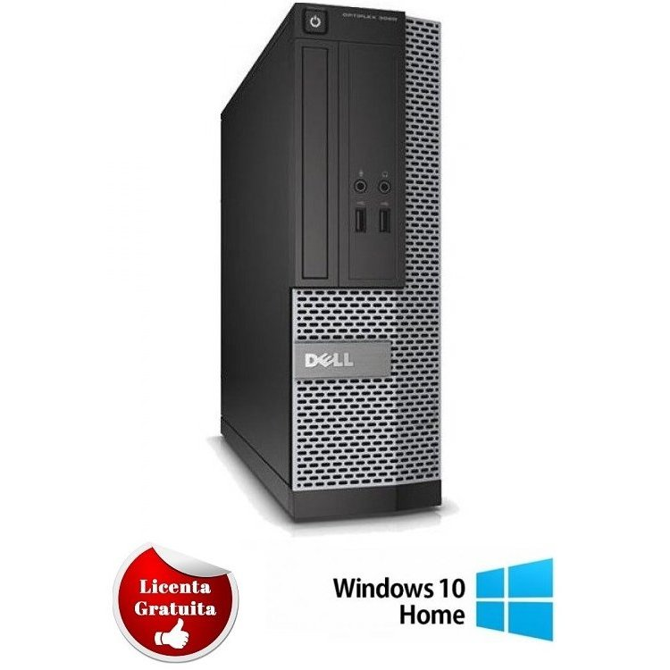 Calculator refurbished Dell Optiplex 7010 Intel Core I5-3470 3.20GHz 4GB DDR3 250GB HDD DVD SFF Soft Preinstalat Windows 10 Home