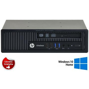 Calculator refurbished HP EliteDesk 800 G1 USDT Intel Core i5-4590S 3.00GHz 4GB DDR3 320GB HDD DVD-RW Soft Preinstalat Windows 10 Home