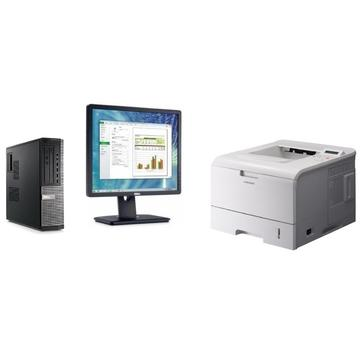 Sistem Dell Optiplex 790 Intel Core I5-2400S 2.50GHz 4GB DDR3 250GB HDD DVD-RW SFF + Dell P1913SF 19 inch + Windows 10 Home + Imprimanta Samsung ML-4551ND
