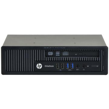 Calculator second hand HP Elitedesk 800 G1 Intel Core i5-4590 3.30GHz 4GB DDR3 240GB SSD + HDD 500GB DVD-RW Desktop