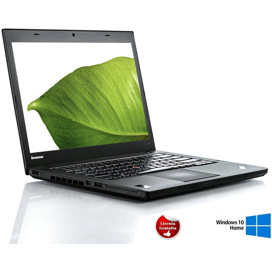 Laptop refurbished ThinkPad T440 I5-4300U 1.9GHz up to 2.9GHz 8GB DDR3 500GB HDD 14inch Webcam Soft Preinstalat Windows 10 Home