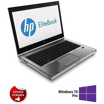 Laptop refurbished HP EliteBook 8470p I5-3320M 2.6GHz up to 3.3GHz 4GB DDR3 240GB SSD DVD-RW 14.0 inch Webcam Soft Preinstalat Windows 10 Professional