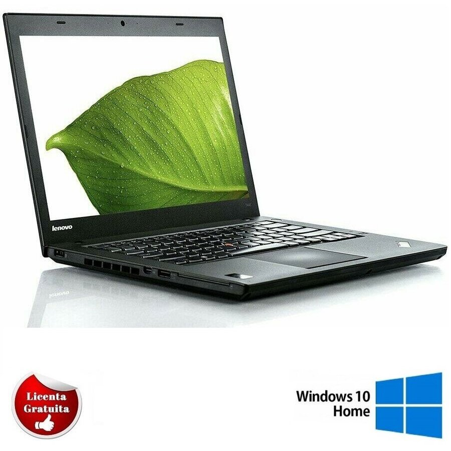 Laptop refurbished ThinkPad T440 i5-4200U 1.60GHz up to 2.60GHz 8GB DDR3 240GB SSD 14 inch 1366x768 Webcam Soft Preinstalat Windows 10 Home