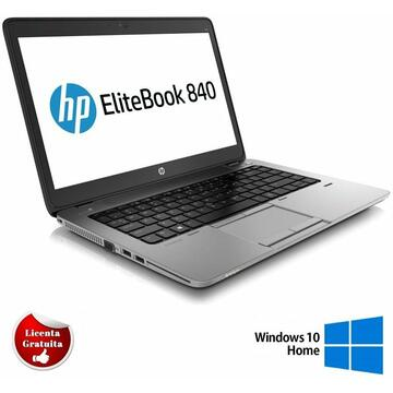 Laptop Remanufacturat HP EliteBook 840 G1, i5-4200U,  4GB DDR3, 128GB SSD, Soft Preinstalat Windows 10 Home