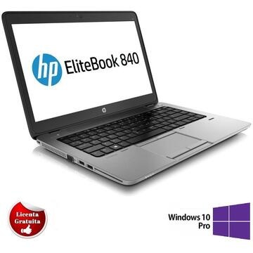 Laptop Remanufacturat HP EliteBook 840 G1, i5-4200U, 4GB DDR3, 128GB SSD, Soft Preinstalat Windows 10 Professional