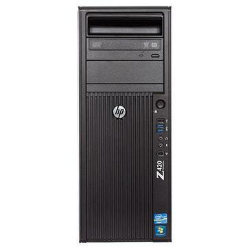 WorkStation second hand HP Z420 Workstation Intel HEXA Core Xeon E5-1650 3.20Ghz, 16GB DDR3 ECC, 250GB SSD, nVidia Quadro K2000, DVDRW, GARANTIE 3 ANI