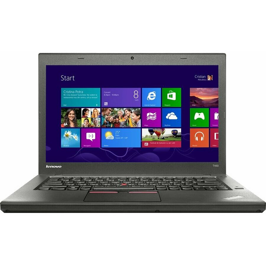 Laptop second hand ThinkPad T450, Intel Core i5-5200U 2.20GHz up to 2.70GHz, 4GB DDR3, 128GB SSD, 14.1inch 1600X900
