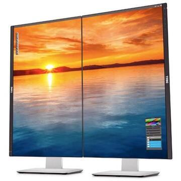 "Monitor LED IPS DELL UltraSharp U2414H, 23.8"", Full HD, negru-gri"