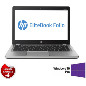Laptop refurbished HP Folio 9470M Ultrabook i5-3427U 1.8GHz 8GB DDR3 128GB SSD 14.1 inch Webcam Soft Preinstalat Windows 10 Professional