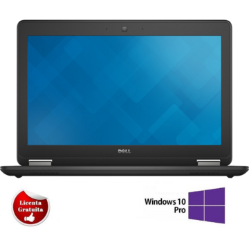 Latitude E7250, i3-5010U, 8GB DDR3, 128GB SSD Soft Preinstalat Windows 10 Professional