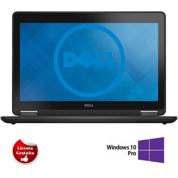Laptop refurbished Dell Latitude E7250, i7 - 5600U, 8GB DDR3, 128GB SSD Soft Preinstalat Windows 10 Professional