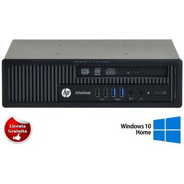 Calculator refurbished HP Elitedesk 800 G1, i5-4570, 4GB DDR3, 500GB HDD Sata, DVD-ROM, Desktop, Soft Preinstalat Windows 10 Home