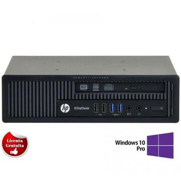 Calculator refurbished HP Elitedesk 800 G1, i5-4570, 4GB DDR3, 500GB HDD Sata, DVD-ROM, Desktop, Soft Preinstalat Windows 10 Professional