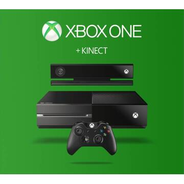 Consola Gaming  Microsoft Xbox ONE, 500GB, Kinect Sensor, Wireless Controller, Black