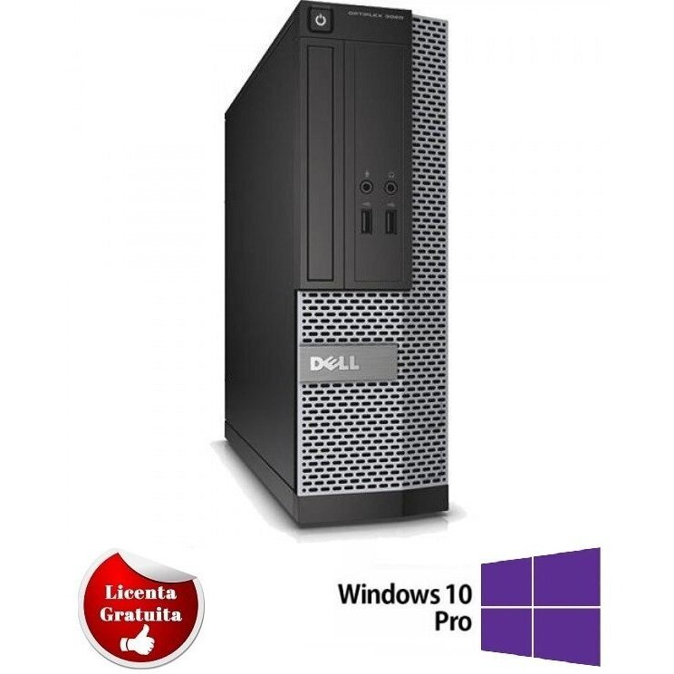 Calculator refurbished Optiplex 7010, i5-3570, 4GB DDR3, 320GB HDD SATA, DVD, Desktop, Soft Preinstalat Windows 10 Professional